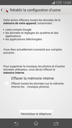 Sony Xperia Z3 Compact - Téléphone mobile - Réinitialisation de la configuration d