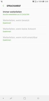 Samsung Galaxy J4+ - Anrufe - Rufumleitungen setzen und löschen - Schritt 13