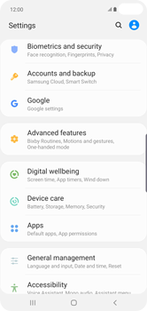 Samsung Galaxy S10 Plus - Mobile phone - Resetting to factory settings - Step 4