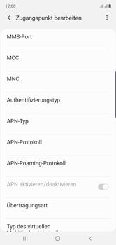 Samsung Galaxy Note 10 - Internet und Datenroaming - Manuelle Konfiguration - Schritt 16