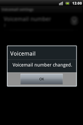 Sony Xperia Mini Pro - Voicemail - Manual configuration - Step 8