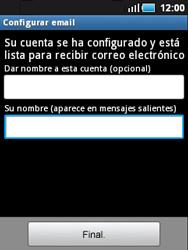 Samsung S5570 Galaxy Mini - E-mail - Configurar correo electrónico - Paso 11