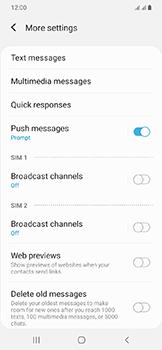 Samsung Galaxy A20e - SMS - Manual configuration - Step 8