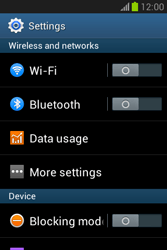 Samsung Galaxy Fame Lite - Internet and data roaming - Disabling data roaming - Step 4