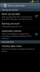Samsung Galaxy S III LTE - Mobile phone - Resetting to factory settings - Step 5