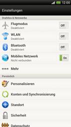 HTC One X - Netzwerk - Netzwerkeinstellungen ändern - 4 / 7