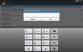 Samsung P5220 Galaxy Tab 3 10-1 LTE - SMS - Configuration manuelle - Étape 7