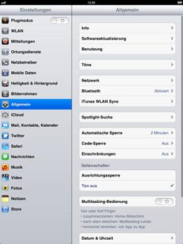 Apple iPad 2 - Fehlerbehebung - Handy zurücksetzen - 5 / 9