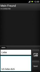 Sony Xperia J - MMS - Erstellen und senden - Schritt 13