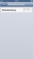 Apple iPhone 5 - Anrufe - Rufumleitungen setzen und löschen - Schritt 5