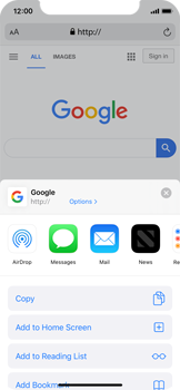 Apple iPhone X - iOS 13 - Internet and data roaming - Using the Internet - Step 17