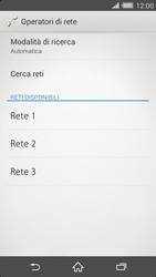 Sony Xperia Z2 - Rete - Selezione manuale della rete - Fase 8