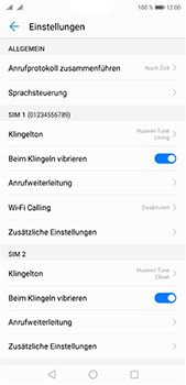 Huawei P20 Pro - Anrufe - Rufumleitungen setzen und löschen - 5 / 9