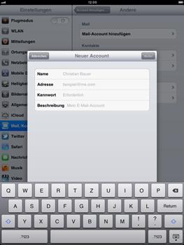 Apple iPad 2 - E-Mail - Konto einrichten - Schritt 7