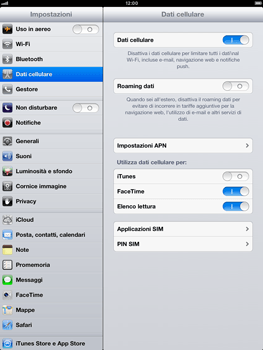 Apple iPad mini - Internet e roaming dati - Configurazione manuale - Fase 5