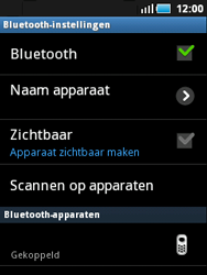 Samsung S5570 Galaxy Mini - Bluetooth - Headset, carkit verbinding - Stap 9