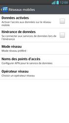 LG Optimus F5 - Internet et connexion - Désactiver la connexion Internet - Étape 8