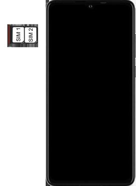 Huawei P30 - Premiers pas - Insérer la carte SIM - Étape 5