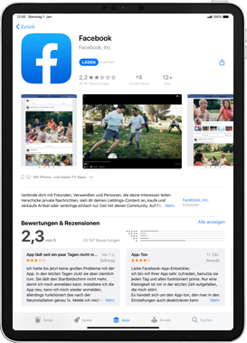 Apple iPad Mini 4 - ipados 13 - Apps - Einrichten des App Stores - Schritt 23
