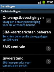 Samsung S5360 Galaxy Y - SMS - handmatig instellen - Stap 4