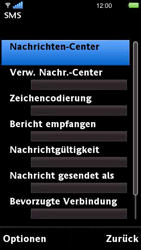 Sony Ericsson U5i Vivaz - SMS - Manuelle Konfiguration - 6 / 14
