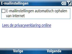 Samsung C6620 - E-mail - handmatig instellen - Stap 8