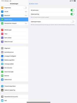 Apple iPad Pro 12.9 (2018) - ipados 13 - Internet und Datenroaming - Deaktivieren von Datenroaming - Schritt 5