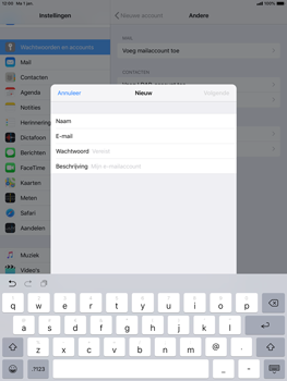 Apple ipad-pro-10-5-inch-ios-12 - E-mail - Account instellen (IMAP zonder SMTP-verificatie) - Stap 8