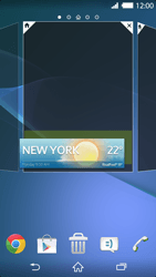 Sony Xperia Z2 - Getting started - Installing widgets and applications on your start screen - Step 6