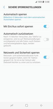 Samsung Galaxy S8 - Datenschutz und Sicherheit - Automatischen Screensaver einschalten - 14 / 17