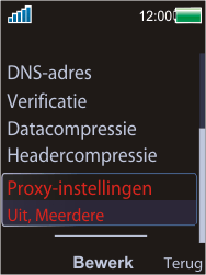Sony W595 - Internet - Handmatig instellen - Stap 13