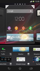 Sony Xperia Z - Getting started - Installing widgets and applications on your start screen - Step 6