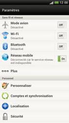 HTC One S - Internet et connexion - Désactiver la connexion Internet - Étape 4