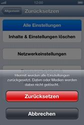 Apple iPhone 4 S - Fehlerbehebung - Handy zurücksetzen - 8 / 10