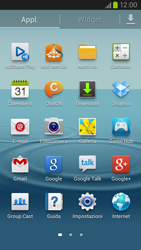 Samsung Galaxy S III LTE - Operazioni iniziali - Installazione di widget e applicazioni nella schermata iniziale - Fase 4