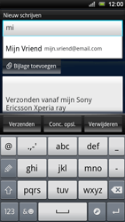 Sony Xperia Ray - E-mail - E-mails verzenden - Stap 6