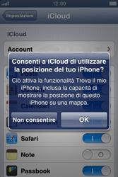 Apple iPhone 4S - Applicazioni - Configurazione del servizio Apple iCloud - Fase 7