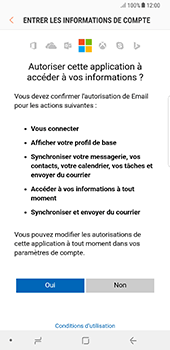 Samsung Galaxy Note 8 - E-mail - Configuration manuelle (outlook) - Étape 9
