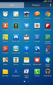 Samsung Galaxy Tab 3 8-0 LTE - Getting started - Installing widgets and applications on your start screen - Step 6