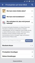 Samsung Galaxy S7 - Datenschutz und Sicherheit - Datenschutzeinstellungen von Facebook ändern - 28 / 35