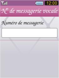 Samsung S7070 Diva - Messagerie vocale - Configuration manuelle - Étape 8