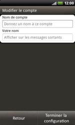 HTC S510b Rhyme - E-mail - Configuration manuelle - Étape 14