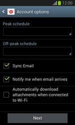 Samsung Galaxy Trend Lite - E-mail - manual configuration - Step 17
