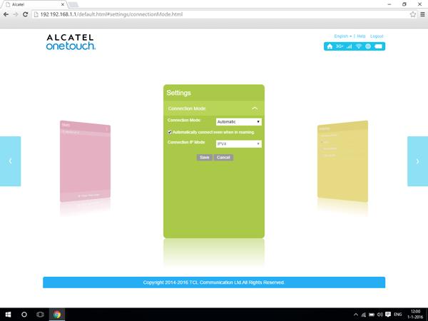 Alcatel MiFi Y900 - Internet and data roaming - disabling data roaming - Step 4
