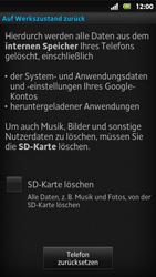 Sony Xperia Sola - Fehlerbehebung - Handy zurücksetzen - 1 / 1