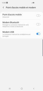 Samsung Galaxy S10 - Internet et connexion - Utiliser le mode modem par USB - Étape 8
