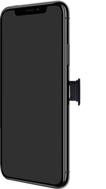 Apple iPhone XS - iOS 13 - Appareil - Insérer une carte SIM - Étape 3