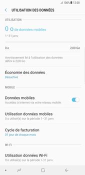 Samsung Galaxy S8 Plus - Android Oreo - Internet et roaming de données - Comment vérifier que la connexion des données est activée - Étape 7