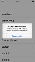 Apple iPhone 5 (iOS 8) - Premiers pas - Créer un compte - Étape 3