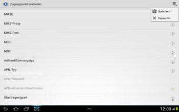 Samsung N8000 Galaxy Note 10-1 - Internet - Manuelle Konfiguration - Schritt 14